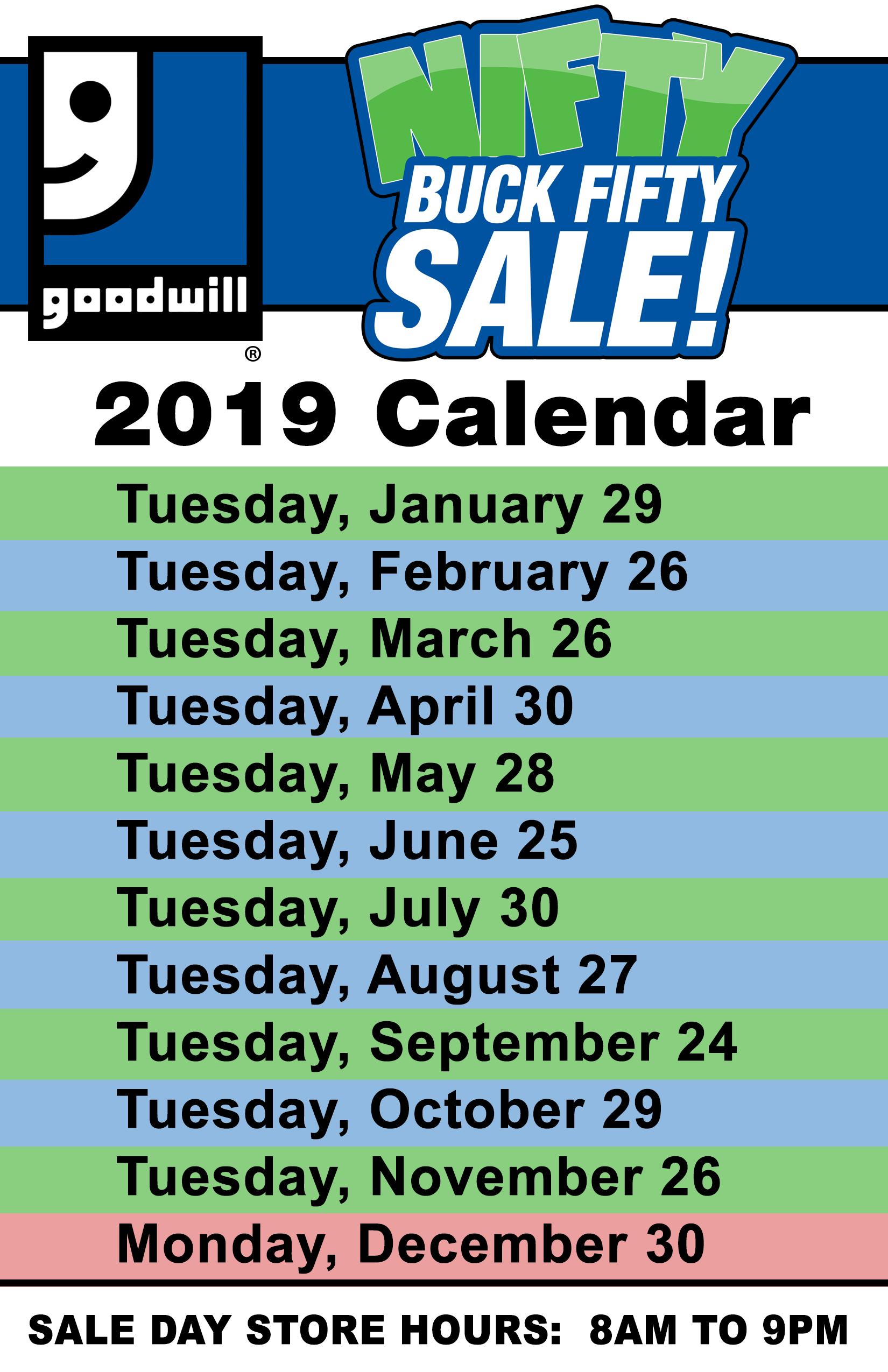 Goodwill February 2019 Sales Calendar BagStuffer_Back   Goodwill Industries of Northern Illinois